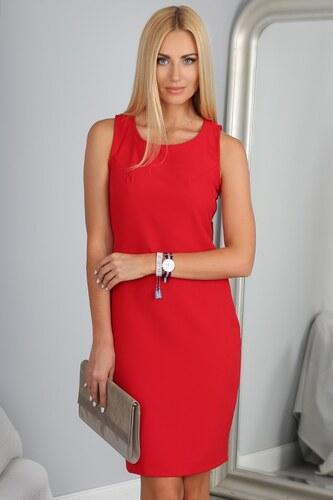 8b537e76c63d FASARDI Priliehavé červené šaty  Červená M - Glami.sk