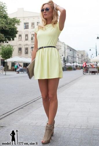 eeee7a0326dd FASARDI Šaty citrónové s krátkym rukávom  XL - Glami.sk