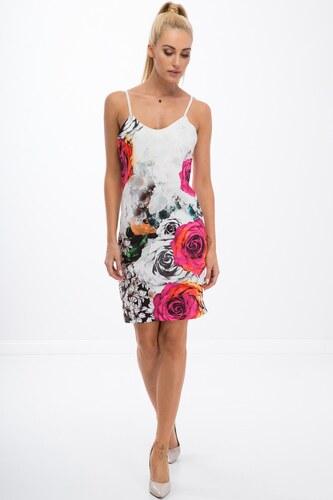 a4e067e640 FASARDI Trendy šaty na ramienka s ružovými ružami  L - Glami.sk