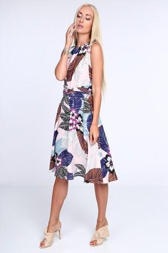 713aecc64061 FASARDI Biele dámske šaty s kvetinovým vzorom  S - Glami.sk