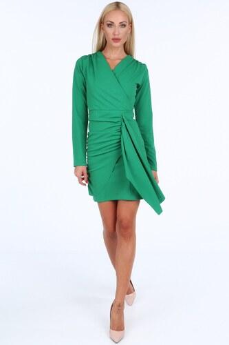 902730429dc6 FASARDI Zelené krátke letné dámske šaty s dlhými rukávmi  XL - Glami.sk
