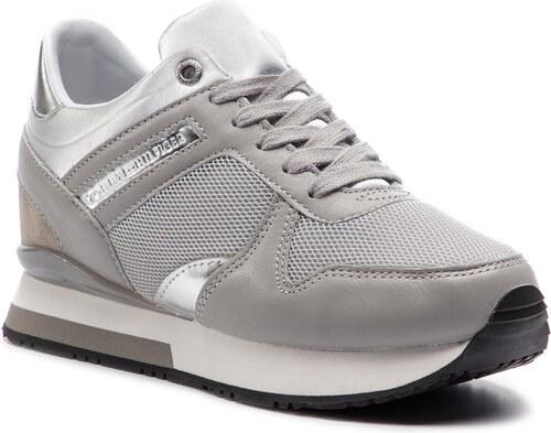 acb34f4a59 TOMMY HILFIGER Glitter Textile Wedge Sneaker FW0FW03893 - Glami.cz