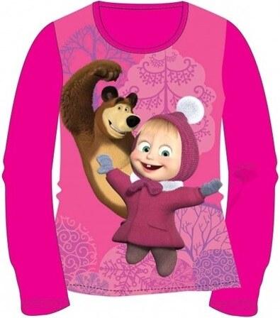 3fd948448e Masha and the Bear, Mása és a Medve Gyerek hosszú ujjú póló, pink ...
