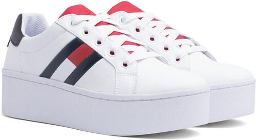 -5% Tommy Hilfiger bílé tenisky na platformě Tommy Jeans Icon Sneaker RWB -  38 6dc3028d5a