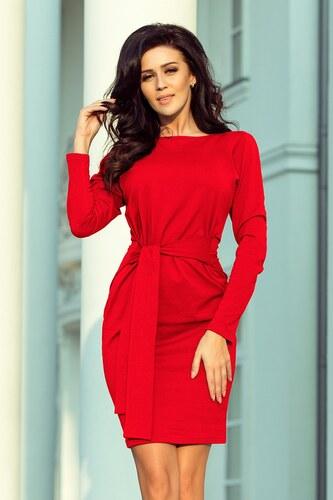 a6aba2d9a544 Numoco Dámske puzdrové šaty 209-6 - červené - Glami.sk