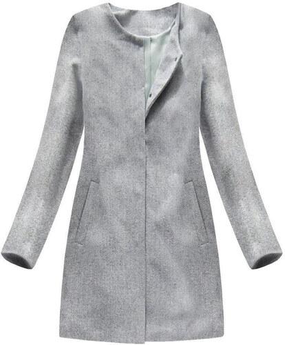 ITALY MODA Dámsky svetlo sivý prechodný kabát 172ART - Glami.sk 4679705d8eb