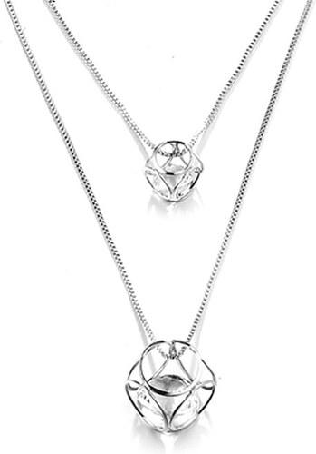 dc35b960d B-TOP Dámsky dlhý náhrdelník KRYSTAL - strieborná - Glami.sk