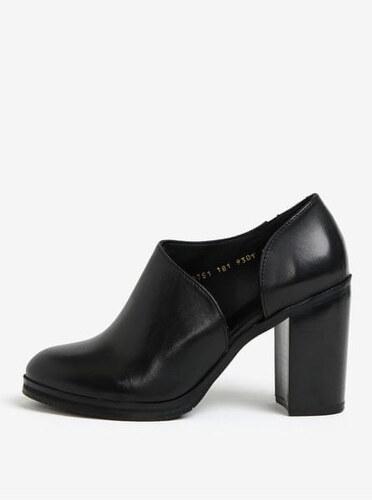 Nové Royal RepubliQ černé dámské kožené boty na vysokém podpatku 36 ae03db038e
