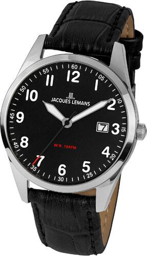 6347ace54 Pánske hodinky Jacques Lemans strieborná/čierna - Glami.sk