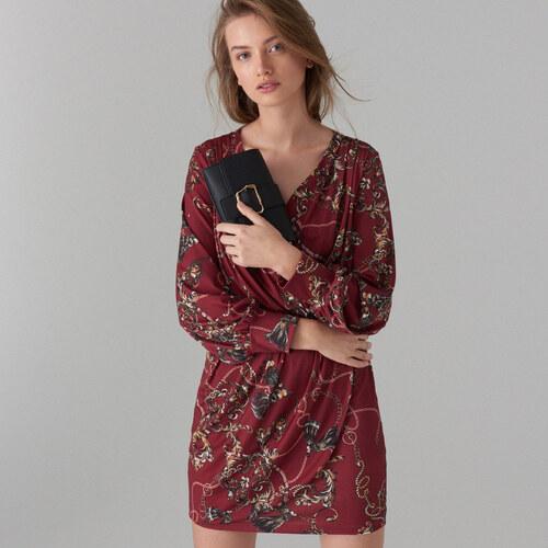 Mohito - Šaty s potiskem řetězu - Hnědá - Glami.cz 8f12578bc41