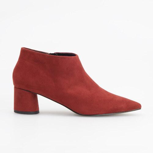 c04c1031d14c Reserved - Členkové topánky so stredne vysokým opätkom - Bordový ...