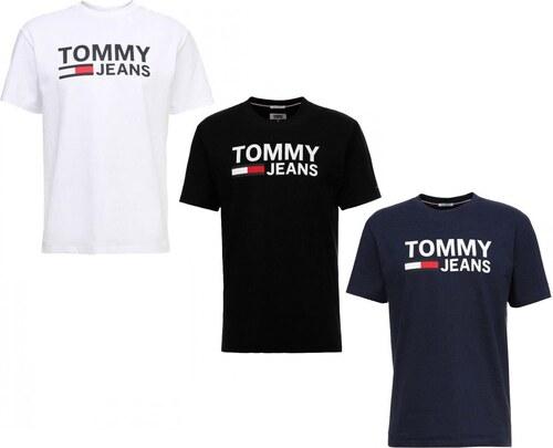 197c17dd617 Tommy Hilfiger Pánská trička TOMMY JEANS 3 pack - bílá   černá   navy