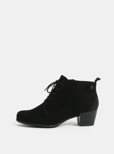 Tamaris černé semišové kotníkové boty 41 - Glami.cz e1c288ef34