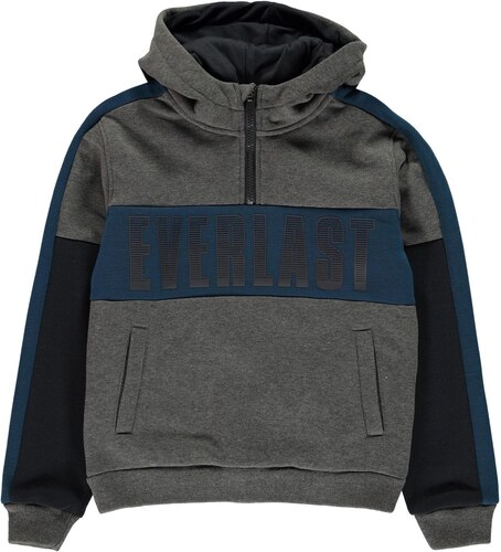 Mikina Everlast XL Logo quarter Zip OTH Hoody Junior Boys - Glami.cz d0516d3c314