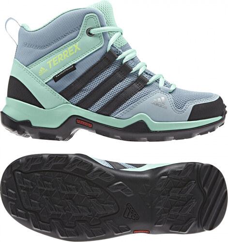 f91a33b67e4d2 -30% Detské členkové topánky adidas Performance TERREX AX2R MID CP K (Svetlo  modrá / Šedá /