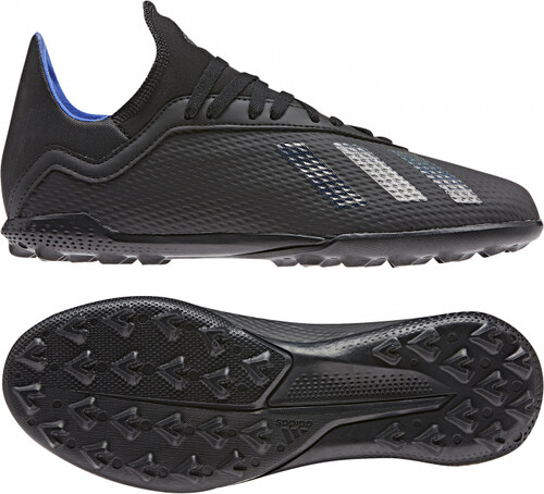 Chlapčenské kopačky turfy adidas Performance X 18.3 TF J (Čierna   Modrá) 275e752afdf