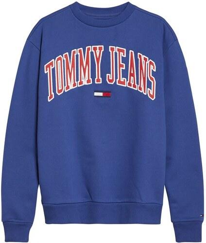 d142ed9abc Dámská mikina Tommy Hilfiger Jeans Logo Crew Modrá - Glami.sk