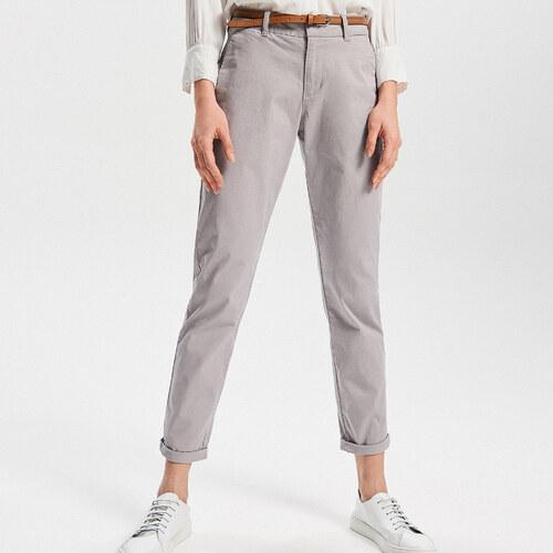03eb8b2b58d1 Reserved - Kalhoty chino - Světle šed - Glami.cz