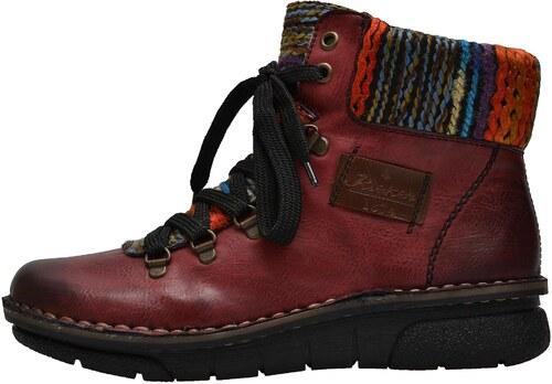 Dámská obuv RIEKER 73343 35 ROT KOMBI H W 8 - Glami.cz 38c542cb71