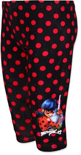Setino Tříčtvrteční bavlněné legíny Kouzelná beruška (Ladybug) - černé 681d0a6e48