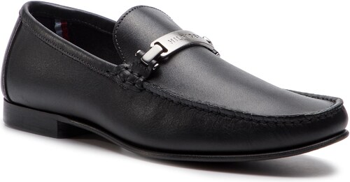 -10% Mokasíny TOMMY HILFIGER - Core Hardware Leather Loafer FM0FM02207 Black  990 1d1833d4f4b