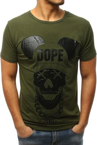 ca35a3f48ed5 Zelené pánske tričko s potlačou - Glami.sk