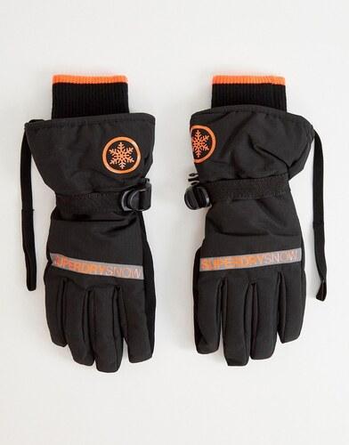 2d61e1dccb7c Superdry Snow ultimate service gloves in black - Black orange - Glami.sk