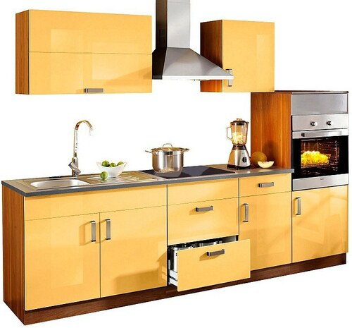 Küchenzeile »Reno«, 270 cm breit, mit Cerankochfeld