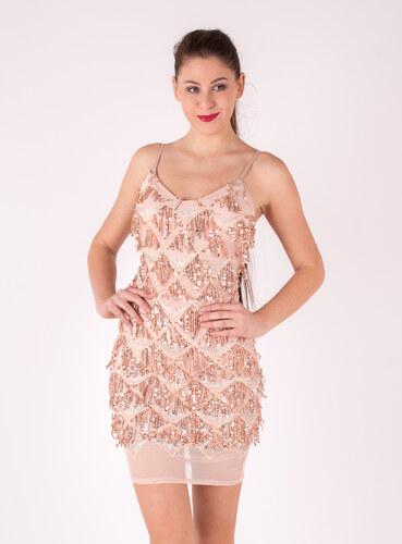 Created by K Ružové krátke šaty s flitrami - Glami.sk f99614ad29e