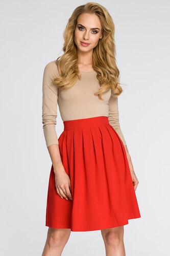 13103d7a377c Červená sukňa MOE 237 - Glami.sk