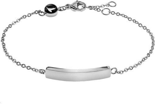 2561f9432 Dámský náramek stříbrné barvy z nerezové oceli Emily Westwood Lines ...