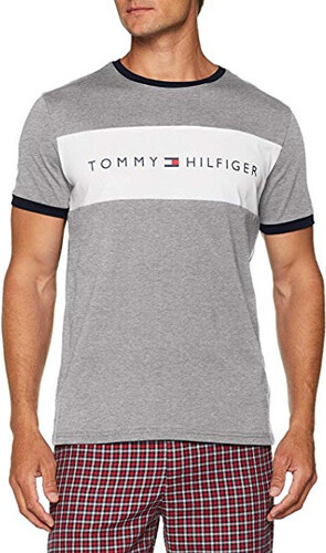 Tommy Hilfiger Pánske tričko Cotton Icon Rn Tee Ss Logo Grey Heather  UM0UM00963 -004 7cfe103c9a0