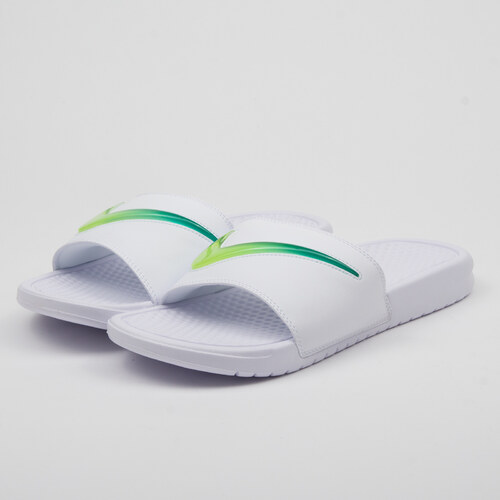 save off 771db bd281 Nike Benassi JDI SE white   hyper jade - volt