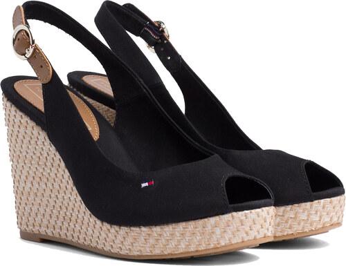 d296e50952 -5% Tommy Hilfiger černé boty na klínku Iconic Elena Basic Sling Back Black  - 40