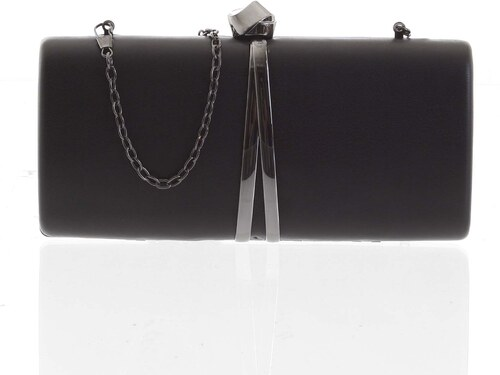 f6349d625190 Exkluzívna malá dámska listová kabelka čierna - Delami ZL2097 čierna ...