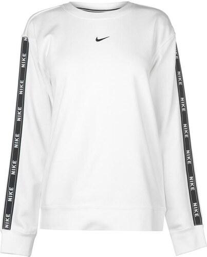 d20b828e8d Mikina dámská Nike Tape Crew White Black - Glami.sk
