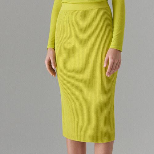b5d724cd4b1 Mohito - Pouzdrová sukně Fluo - Žlutá - Glami.cz