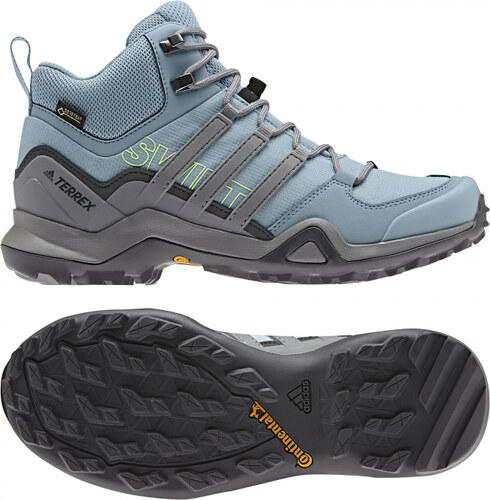 1c5f0cd1d76e Dámske členkové topánky adidas Performance TERREX SWIFT R2 MID GTX W  (Svetlo modrá   Šedá