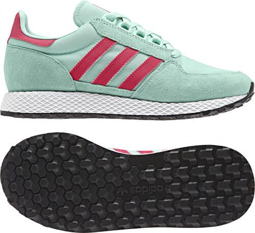 e406d33f631a Dámske tenisky adidas Originals FOREST GROVE W (Svetlo zelená   Tmavo  růžová   Biela)