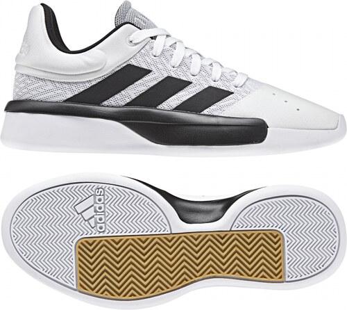 Nové Pánske basketbalové topánky adidas Originals Pro Adversary Low 2019  (Biela   Čierna   Šedá) 455b0f1faa8