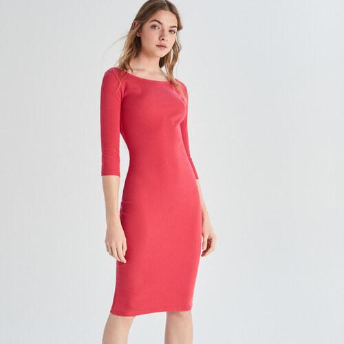 5c92b53f95 Sinsay - Dlhé úpletové šaty - Oranžová - Glami.sk