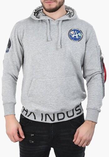 Alpha Industries Moon Landing Hoody 196305 17 - Glami.sk eda68e073ad