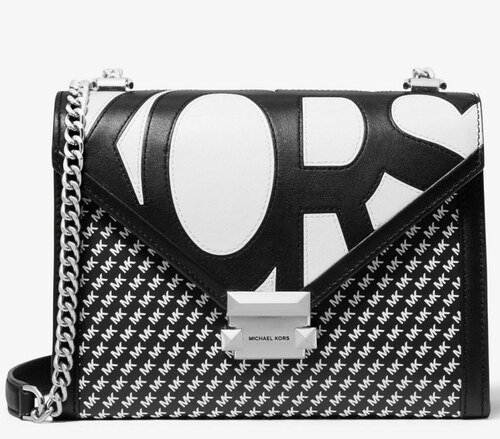 2843f8a13c Kabelka Michael Kors Whitney Large Graphic Logo Convertible Shoulder Bag  černá 30S9SWHL3O