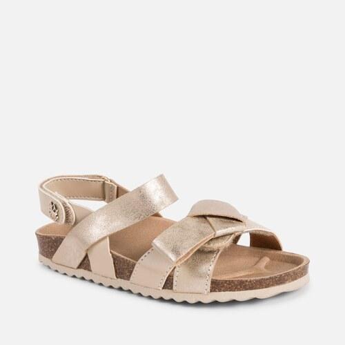 d904b1c37d12 MAYORAL kožené korkové sandále 43061+45061-067 Gold - Glami.sk