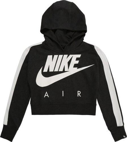 Nike Sportswear Mikina  CROP PE AIR  černá   bílá - Glami.cz eaf2e88580a