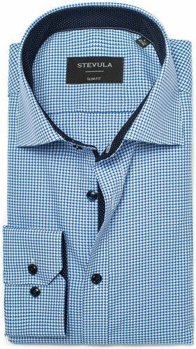 2e7125a75f1d STEVULA Modrá vzorovaná košeľa s Non-iron