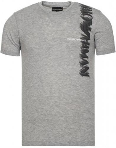 Šedé tričko z prémiové bavlny od Emporio Armani - Glami.cz 634bc39300e