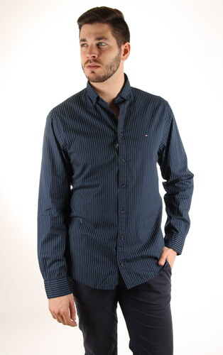 879ee5cc14 Tommy Hilfiger pánská tmavě modrá košile - Glami.cz