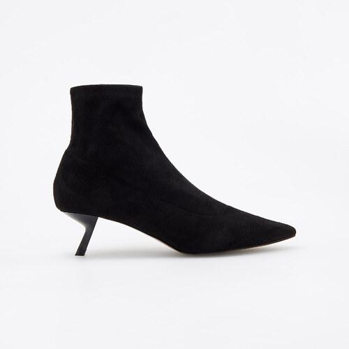 09f9ccf53e Reserved - Členkové topánky so stredne vysokým opätkom - Čierna ...