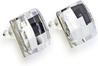 c4c205b46 Biele náušnice Naneth s kryštálmi Chessboard Swarovski Crystal ...